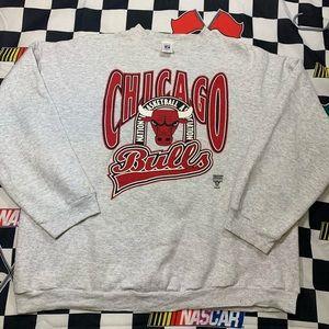 Vintage Logo 7 Chicago Bulls Crewneck XXXL 3XL